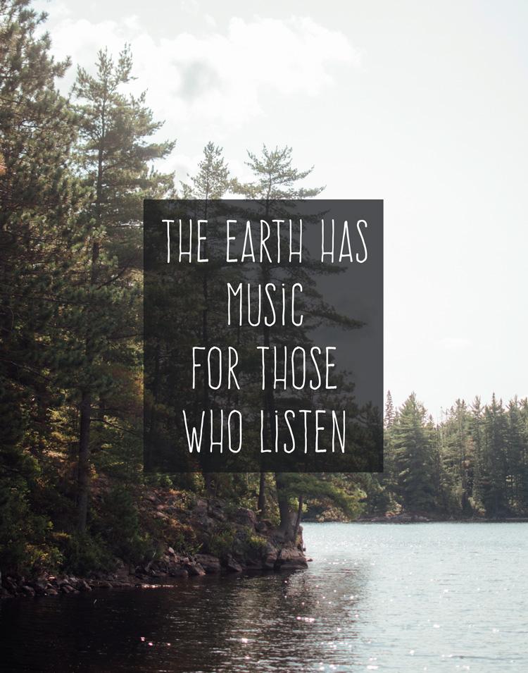 Earth Music | word art wednesday | RDPRINTS