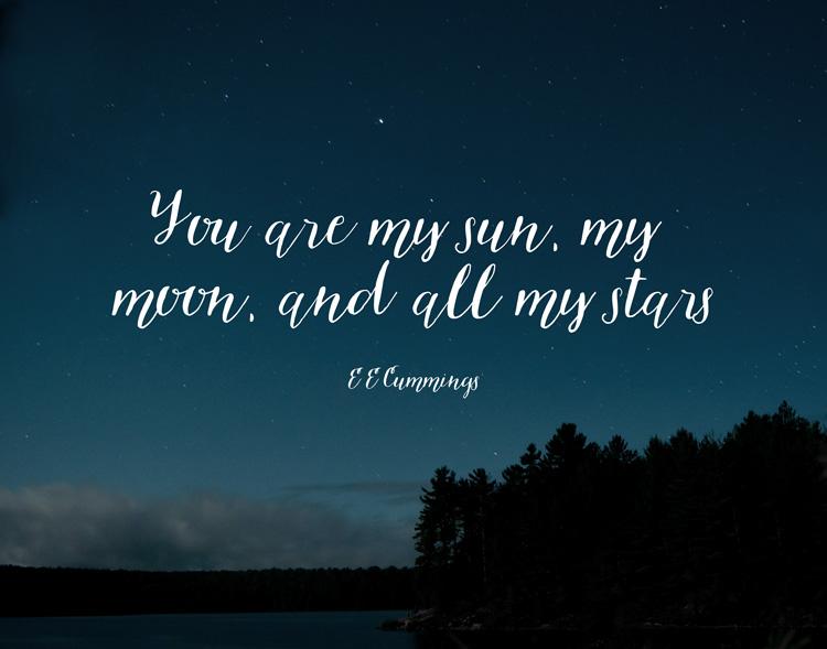 My Sun, My Moon | word art wednesday | RDPRINTS