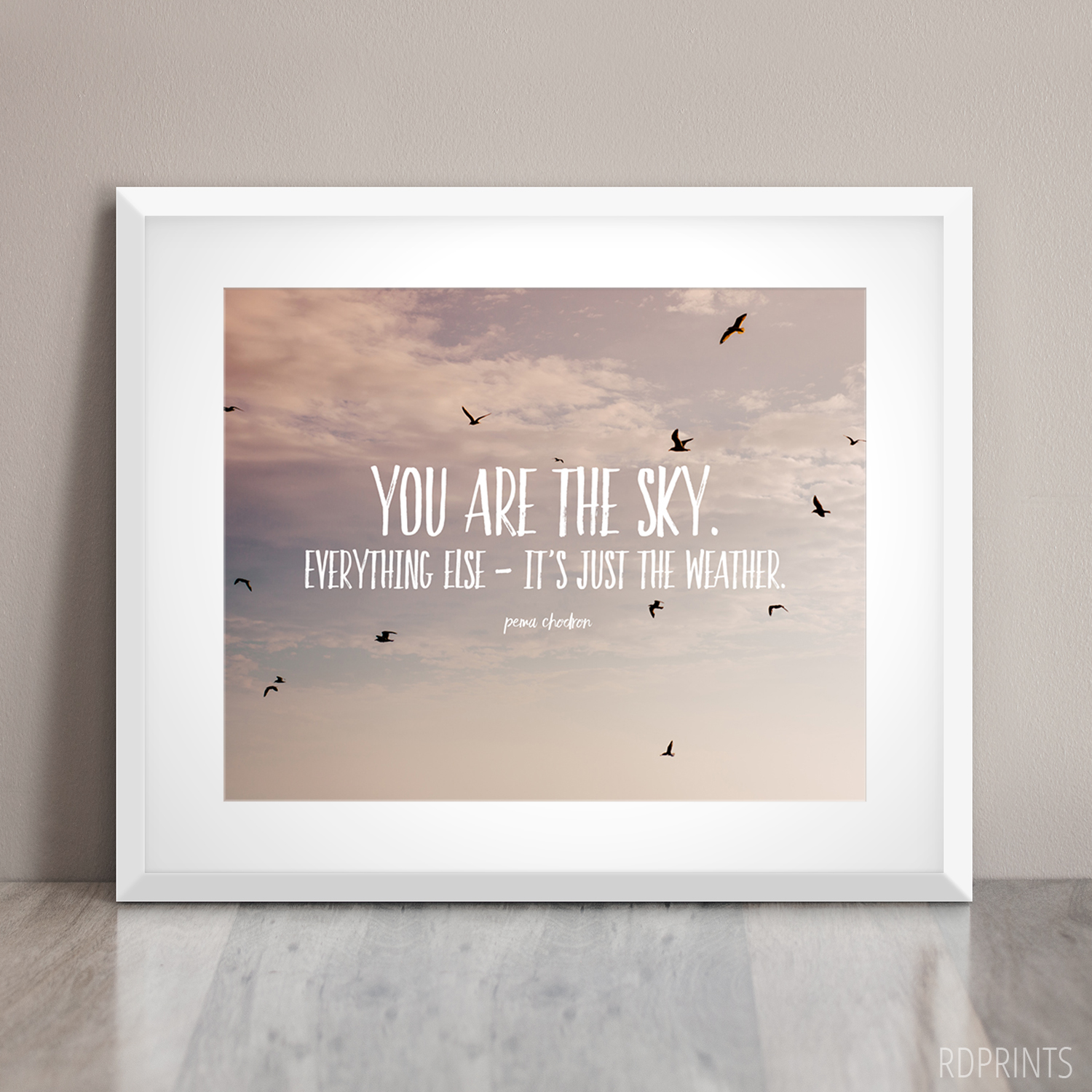you are the sky | word art | RDPRINTS on ETSY