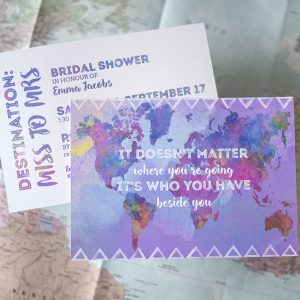 Bridal Shower Invite – Travel Theme
