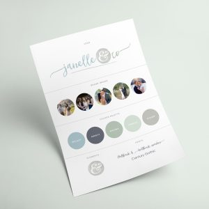 Janelle & Co Brand Board