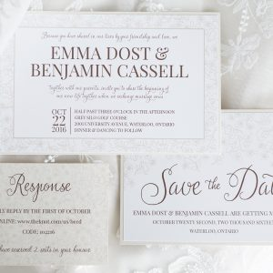 Emma & Ben – Save the Date & Wedding Invitation Suite