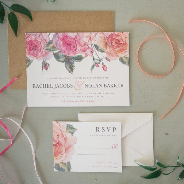 soring wedding invitation