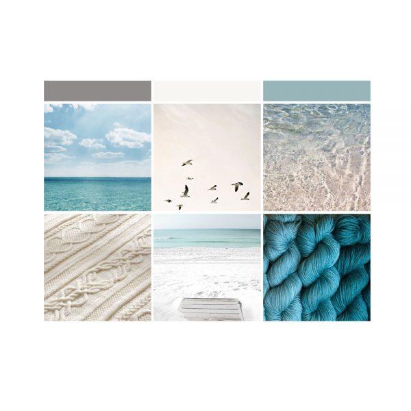 beach vibes brand moodboard